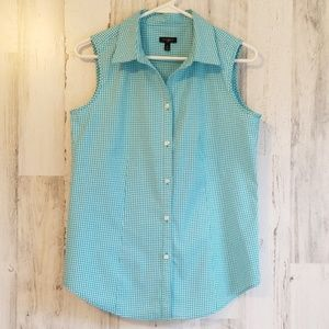 Talbots Sleeveless Gingham